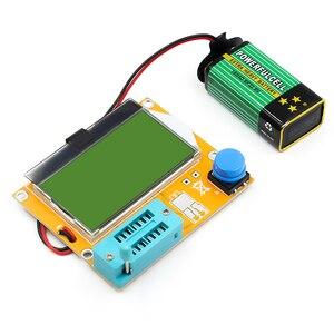 Image 2 - Mega328 M328 LCR T4 12846 LCD cyfrowy Tester próbnik elektroniczny miernik dioda podświetlenia trioda pojemnościowy miernik parametru ESR MOS/PNP/NPN L/C/R
