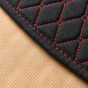 Image 5 - Car Seat Cover Universal Flax Car Rear Seat Cushion with Backrest Four Seasons Interior Auto Chair Seat Carpet Mat Pad
