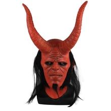 Nieuwe Film Hellboy: opkomst van de Bloed Koningin Masker Ox Hoorn Masker Rechterhand Cosplay Handschoenen Armor Latex Hand Gauntlet Party Halloween