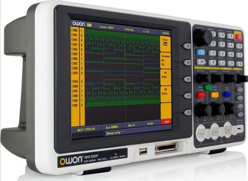 Fast arrival Owon MSO8202T 200MHz 2GS/s Digital Storage Oscilloscope DSO Dual channels+ external trigger MSO-8202T. owon hds1021m digital storage oscilloscope dso 1 channel 20 mhz scopemeter 100 msa s
