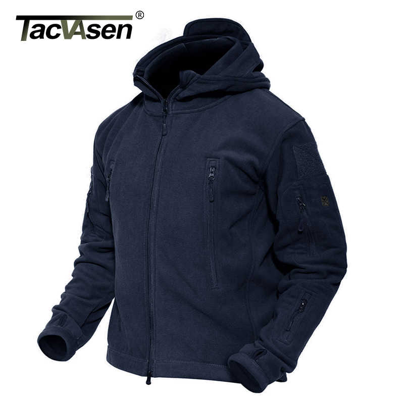 Tacvasen Winter Fleece Jas Mannen Multi-Zakken Militaire Tactische Jas Thermische Hooded Outdoor Wandeling Mountain Jassen Uitloper