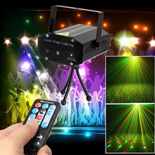 Mini DJ Disco Party LED Rolling Stage Light Remote Control Laser Projector