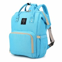 Women Waterproof Oxford Bags Cloth Mummy Maternity Nappy Diaper Bag Large Capacity Baby Bag Travel Backpack