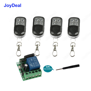 433Mhz Universal Wireless Remote Control Switch DC 12V 1CH Relay Receiver Module and RF Transmitter For Electronic Door Lock DIY(China)