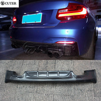F22 M235 Carbon Fiber Car Rear bumper diffuser lip four exhaust for BMW F22 M235i body kit 14 18