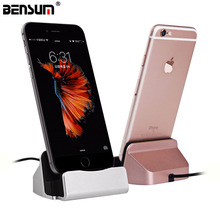 BENSUN Brand USB Sync Data Charger dock Charging Dock stand Station Desktop Charger For iPhone 5S SE 6s 6 7 Plus Android Type-C
