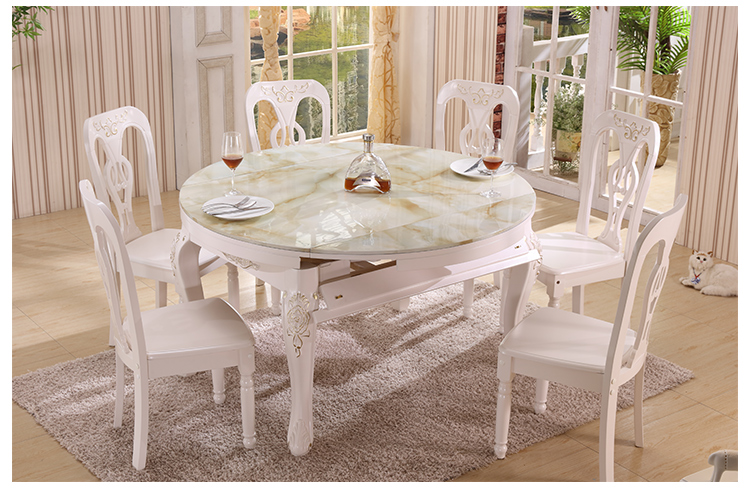 Aliexpress Buy Luxury Wooden Dining Room Extendable Table And Chair With Carving H801 From Reliable Suppliers On LI YA SI Store
