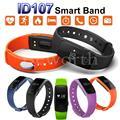 Banda inteligente Smartband ID107 Monitor De Freqüência Cardíaca Do Bluetooth Pulseira Relógio Pulseira de esportes de Fitness Rastreador PK Mi Banda 2 i5 Mais IOS