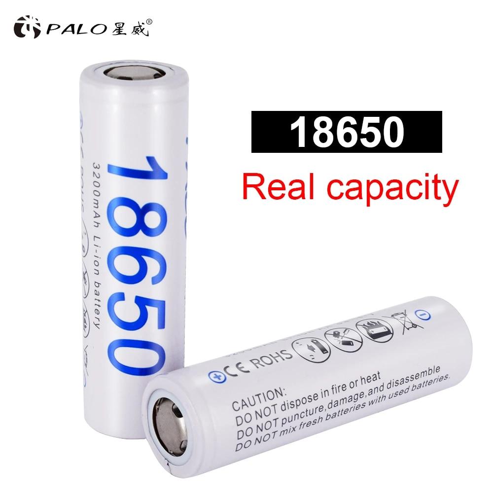 2 pcs 100/% Original 18650 3.7v 3200mAh li ion Battery Rechargeable for Flashlight Batteries
