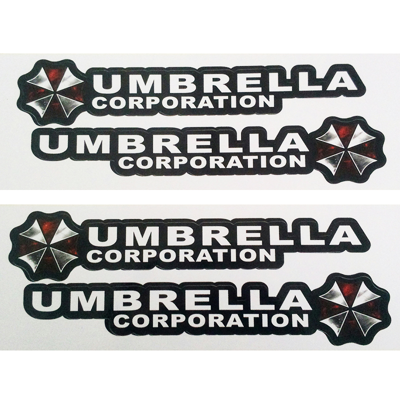 OTOKIT 4PCS/lot Resident Evil Umbrella Corporation Logo Glue Sticker Car Decal Covers Waterproof for All cars on Car Handle Knob