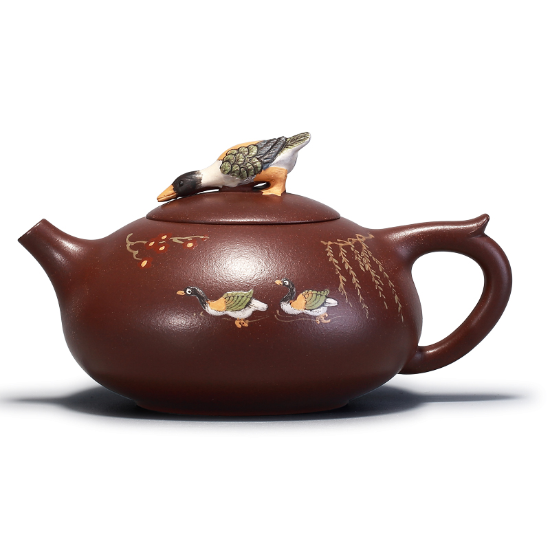 320ml Authentic Chinese Yixing Purple Clay Teapots Kungfu zisha Tea pot Famous Handmade Duck Teaware set For Gift Safe Package