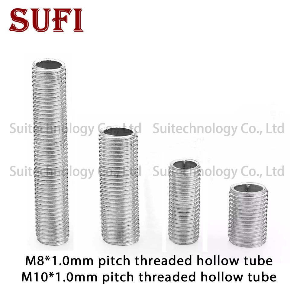 5pcs M8 M10 Lamp Screw Bolts Tooth Tube 8MM 10MM Diameter Zinc Alloy M8 M10 Male Thread Hollow Tubes Lighting Accessories