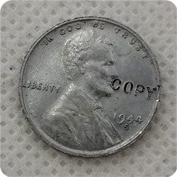 Копия копии США 1944,S,D стальной цент Lincoln пшеницы, Пенни копия