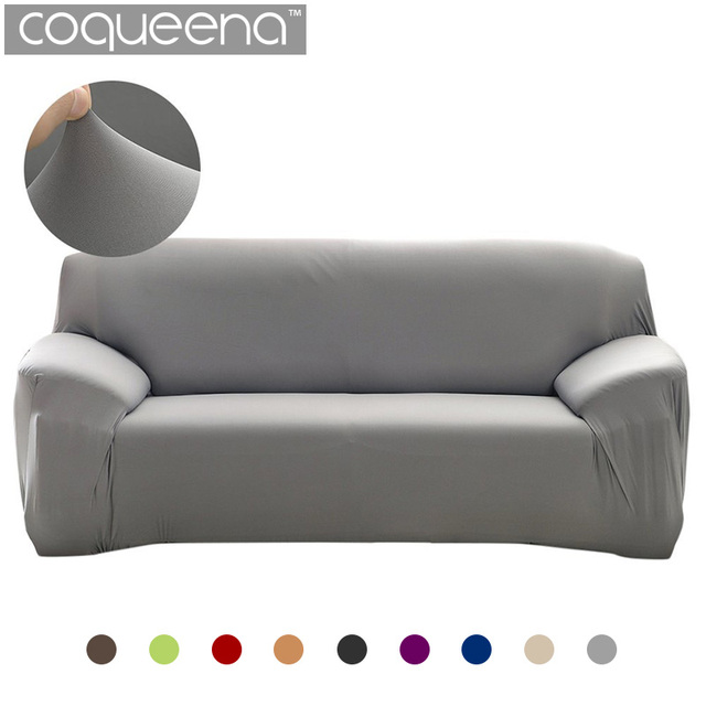 Plain Elastic Stretch Sofa Covers Polyester Spandex Fabric Arm