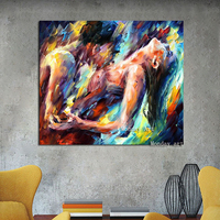 Unframed Pure Handpainted Ballet Dancer Abstract Modern Wall Art Picture Home Decor Gift Oil Painting On Canvas For Bedroom Wall