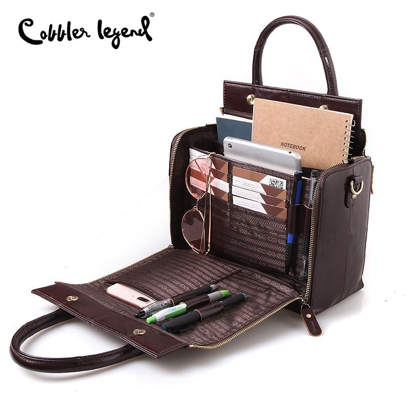 Soft Handbag Shoulder-Crossbody-Bag Cobbler Legend Luxury Tote Multifunction Large Genuine-Leather
