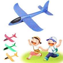 36cm DIY avión volador de mano de lanzamiento de deslizador de vuelo aviones juguetes para niños de espuma modelo Avión de fiesta al aire libre deslizador de relleno
