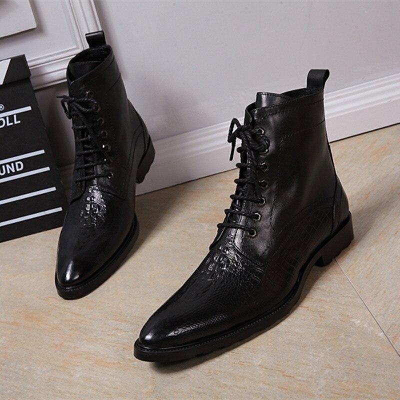Choudory/итальянские военные модельные ботинки с острым носком на высоком каблуке в западном стиле; черные ковбойские ботинки с ремешком; мужск