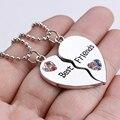 Ожерелье Стразы в форме сердца с инкрустированными цветными вставками, украшение для лучших друзей, прямые продажи