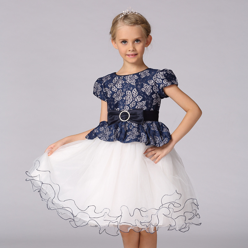 High quality Summer Princess Girls Tutu Dress tulle Lace elsa Costume Birthday Wedding Party Frocks Dresses For 2 4 6 8 10 Years 6 16 years girls full dress tulle formal tutu long prom princess champagne children dresses frocks for wedding birthday party