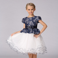 Summer Princess Girls Tutu Dress Frock Designs Tulle Lace Elsa Costume Birthday Wedding Party Dresses For