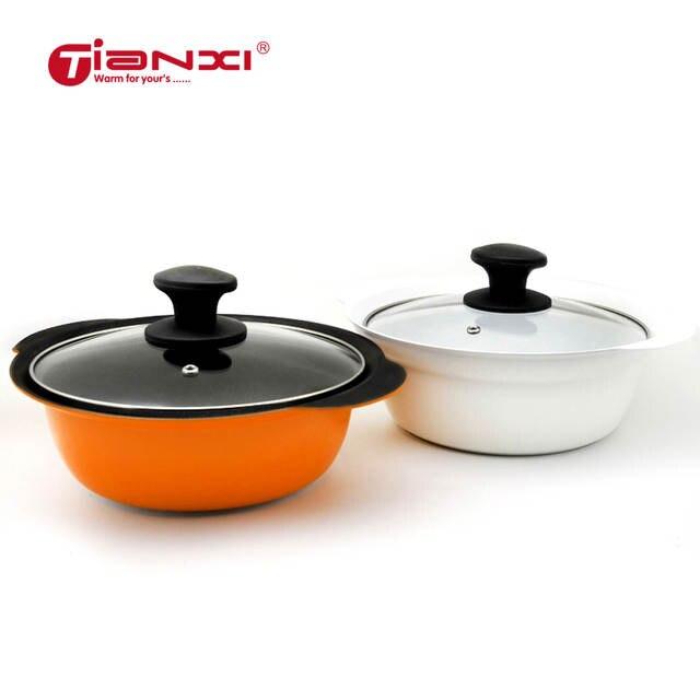 20 24cm Soup Stock Pots Japanese Style Non Stick Clam Rice Pot