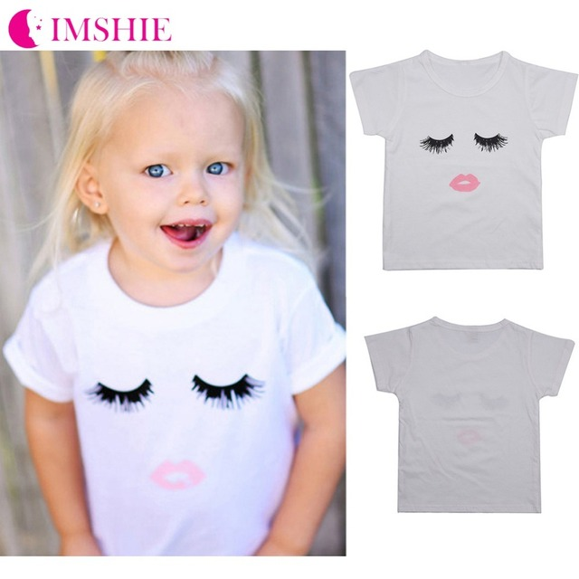 6d97c31a703a Baby Girl Summer Cotton White T Shirt Cartoon Printed Smiley Face ...