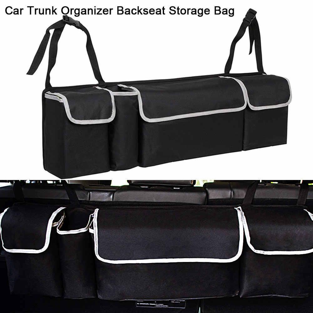 Car Trunk Organizer Car Interior Accessories Back Seat Storage Box Bag Oxford