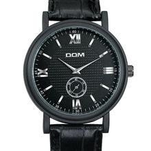 Dom 2016 Men moda de los relojes de cuarzo de la personalidad reloj de cuero correa Vintage Simple reloj de pulsera impermeable ocasional