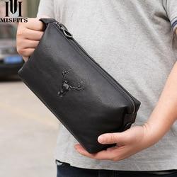 Косметический Чехол для мужчин из натуральной кожи, водонепроницаемая сумка для туалетных принадлежностей, вместительная сумка для путеше...