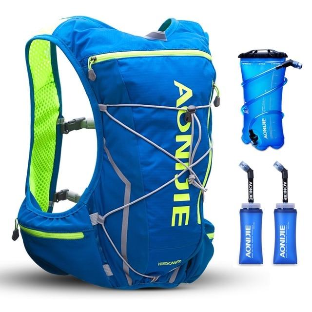 AONIJIE 10L Men Women Trail Running Hydration Backpack Hiking Racing Cycling Camping Marathon 2L Water Bag 2 350ML Soft Flask
