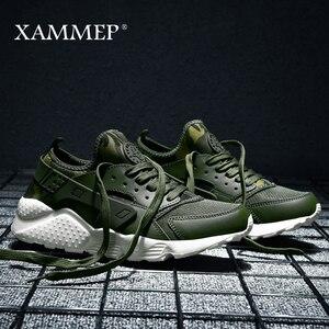 Image 2 - Кроссовки Xammep мужские сетчатые, повседневные брендовые сникерсы, лоферы на плоской подошве, дышащие, без застежки, большие размеры, весна осень