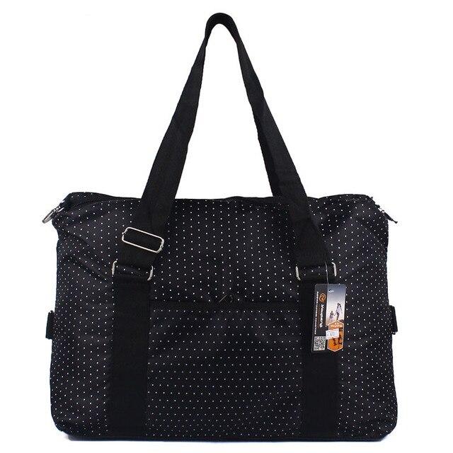 Большой емкости женщины багаж дорожные сумки короткие руки - состоится точка вещевой мешок для плеча большой водонепроницаемый нейлон bolsa де viagem