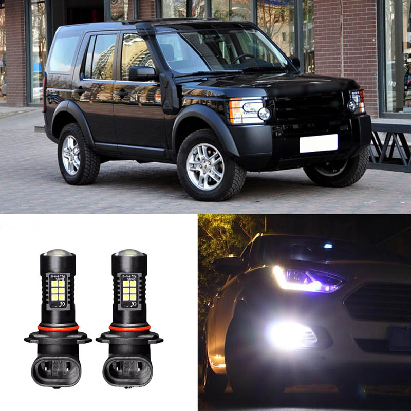 2x Canbus H11 3030 21SMD LED DRL Daytime Running Fog Lights Bulbs Fit For Land Rover Discovery 3 2009 image