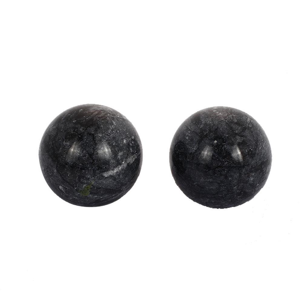 30mm Natural Black Jade Crystal Ball Sphere Ball Healing Massaging Fitness