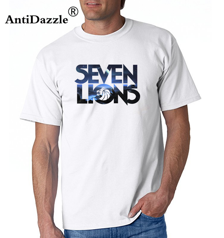 Antidazzle 2017 new style Seven lions print Mens & Womens Summer Cotton Printing T Shirt