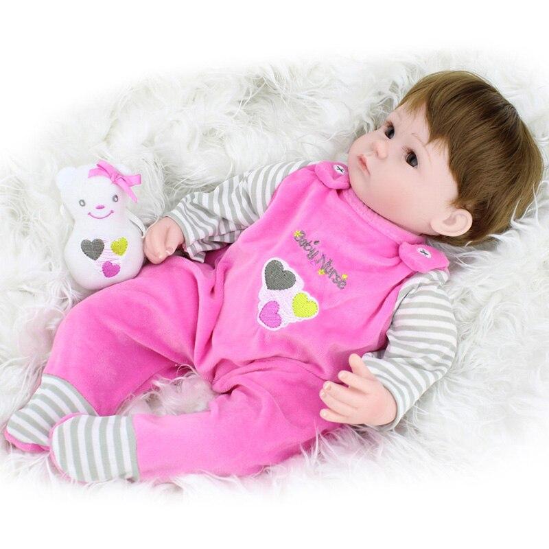 40 cm doux corps Silicone Reborn bébé poupée jouet vinyle nouveau-né fille bébés poupées enfants jouer maison jouet enfant fille cadeau Brinquedos - 2