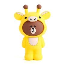Q UNCLE Pencil Case for Children Stationery Silica Gel Bag 3D Cartoon Giraffe Pen School Supplies Gift