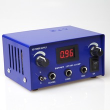 BJT Tattoo Power Supply Hurricane Digital LCD Display Blue Color Dual power supply for tattoo machine Gun ink kit supplies