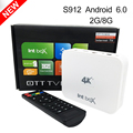 Caixa de TV S912 Intbox i7 Inteligente Android 6.0 Amlogic Octa Núcleo 2 GB RAM Wifi 4 K 1080 P Kodi Media Player OTT Set Top TV Receptores caixas