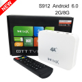 TV Box S912 Intbox i7 Smart Android 6.0 Amlogic Octa Core 2GB RAM Wifi 4K 1080P Kodi Media Player OTT Set Top TV Receivers Boxes