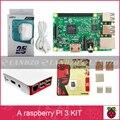 Um starter kit-pi Raspberry Pi 3 Modelo B 3 placa/pi 3 case/fonte de alimentação padrão Americano/16G cartão de memória/calor pia