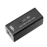 HiFi Mini Computer External Sound Card Digital PC External Sound Card With USB Cable Power Supply