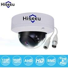 Hiseeu AHD 720P 960P Metal Case Mini Dome Analog AHD CCTV Camera indoor IR CUT Night Vision Plug and Play Freeshipping AHCR3