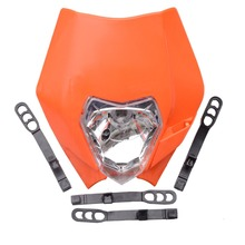 GOOFIT Universal Orange Motorcycle Dirt Bike Motocross Supermoto Universal KTM headlight EXC SX XCF SXF SMR