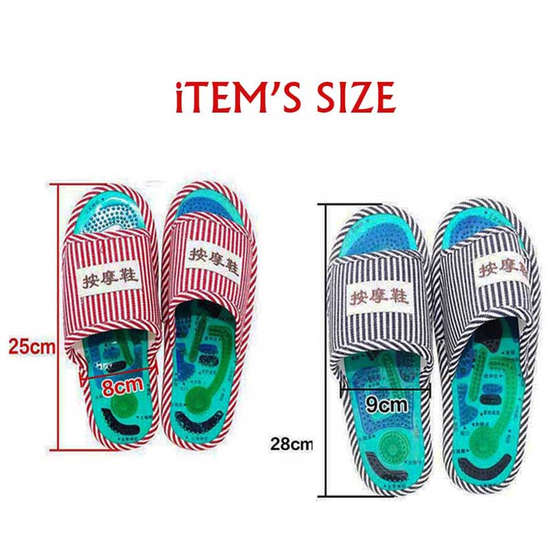 Health Care Acupuncture Shiatsu Magnet Foot Massage Slippers Health Shoe Reflexology Magnetic Sandals Feet Massager Shoes 4