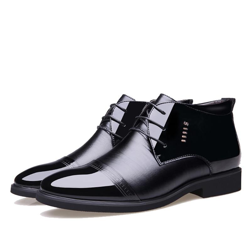 De Cheville Chaussures Homme Noir Black Designer Chaude Microfibre Neige En Npezkgc Laine L'intérieur Nouveau Bottes D'hiver 2019 Cuir À Hommes Rj4q53AL