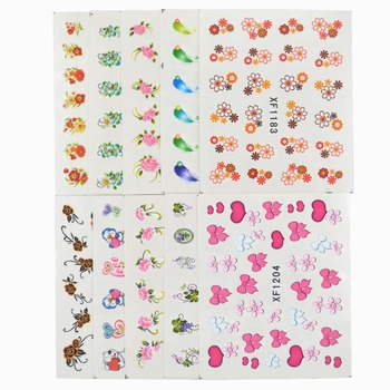WUF 60 Sheets Mixed Styles DIY Decals Nails Art Water Transfer Printing Stickers For Salon
