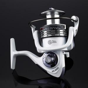 Image 3 - High Quality Brand 14BB Fishing Reel CNC Rocker Arm Spinning Reel White Color Carp Fishing Feeder Reel Fishing Fishing Tackl