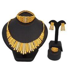 big red stone new design jewelry free shipping DHL 18K african gold sets color guranteed high quality jewery set